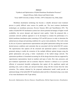 "Abstract ""Synthesis and Optimization of Hybrid Membrane"