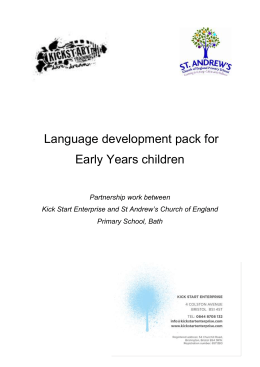 Language development pack for Early Years children