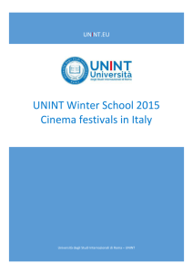 UNINT Winter School 2015 Cinema festivals in Italy