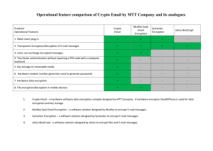 Comparison Crypto Email and its analogues