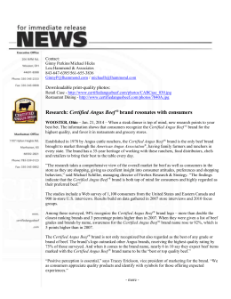 Research: Certified Angus Beef ® brand resonates with consumers