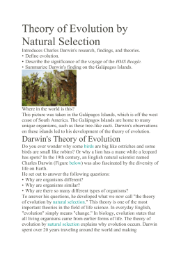 Theory Of Natural Selection Study Guide Answers