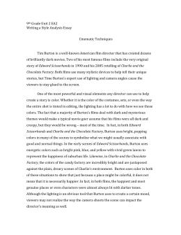 Healthy Living Essay Tim Burton Essay X Style Analysis Sample Animal Testing Essay Thesis also Essay On The Yellow Wallpaper Tim Burton Style Analysis Film Essay Essays About English