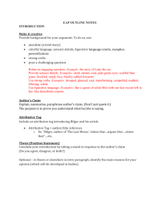 EAP OUTLINE NOTES INTRODUCTION Make it creative Provide