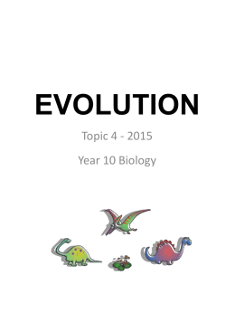 Student notes – Evolution