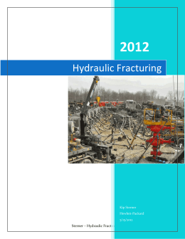hydraulic fracturing research paper