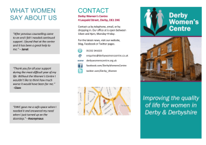 groups & Courses - Derby Women`s Centre