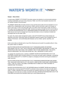 News Article - Waters Worth It
