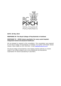 DATE: 20 May 2013 RESPONSE OF: The Royal College of