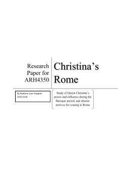 Queen Christina`s Rome