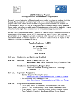 Draft Agenda - Environmental Business Council of New England, Inc.