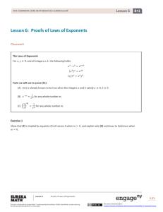 Grade 6 Mathematics Module 1, Topic B, Lesson 12