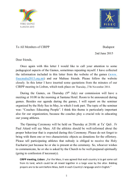 CIRPP Letter - The Official Website of the Fisec Malta 2015 Games