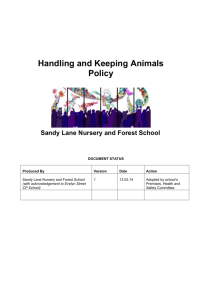 Handling and Keeping Animals in School (W)