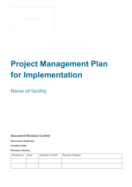 redesign project management plan