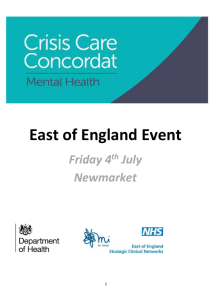 the delegate pack - Mental Health Crisis Care Concordat