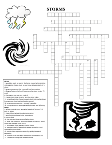 Storms crossword puzzle