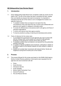 QS Summary Report - Essex Safeguarding Adults Board