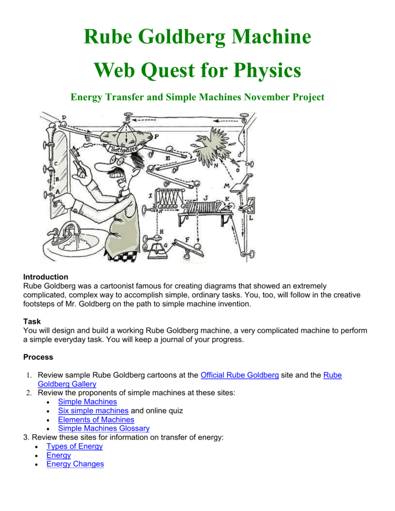 Rube Goldberg Physics Webquest