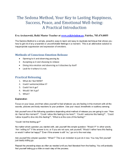 Methods of Conscious Emotion Release