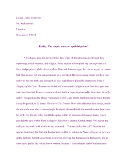 plato and baudrillard essay Free essay: movie the matrix in 2002, brent staples communicated with jean baudrillard about the use of his philosophy in the matrix (1999), a film written.