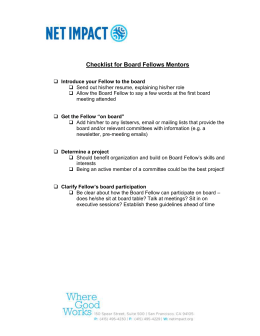 Checklist for Board Fellows Mentors