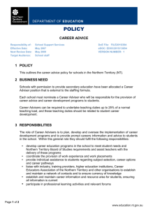 Career Advice policy 2015