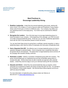 Best Practices to Encourage Leadership Giving