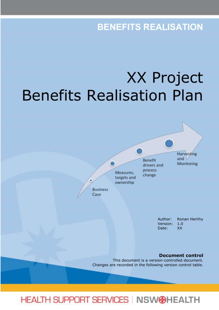 Benefits Realisation Plan Template