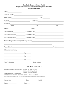 Registration Form - Our Lady Queen of Peace