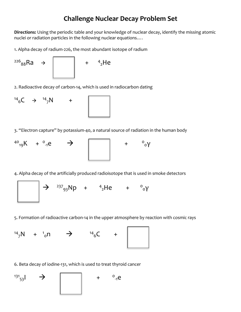 worksheet. Nuclear Decay Worksheet Answers. Grass Fedjp Worksheet ...
