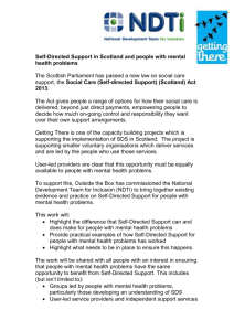 Self-Directed Support in Scotland for people with mental
