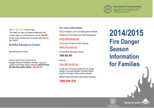 2014/15 Fire Danger Season Information for Families