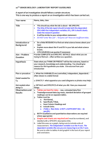 Lab Rubric and Lab Writeup Structure EDITED