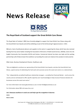 The Royal Bank of Scotland support the Great British Care Shows