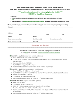 Registration Form and Directions - Knox