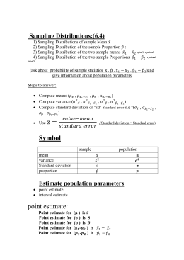 Statistics Sect 10 2 Worksheet 1 Name Inference About Population