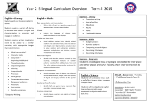 Year 2 Bilingual Curriculum Overview Term 4 2015