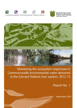 Monitoring the ecosystem responses to Commonwealth