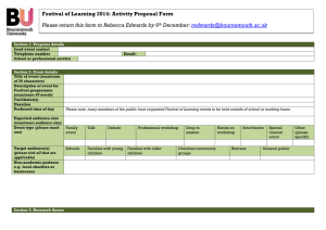 FoL 2014 event proposal form