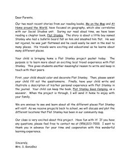 Response example flat stanley letter midkiff elementary school altavistaventures Image collections