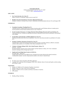 Show my resume - New York Circle of Translators