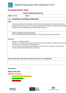 E-assessment task Science