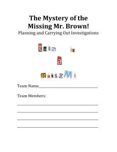 The Case of the Missing Mr. Brown