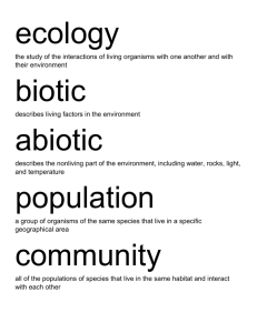 ecology the study of the interactions of living organisms with one