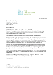 18 October 2014 Planning Department Canterbury City Council