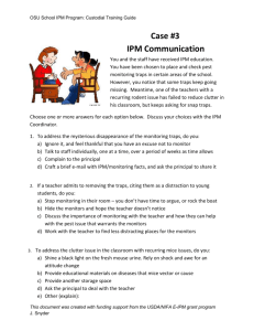 Case Scenario #3: IPM Communication