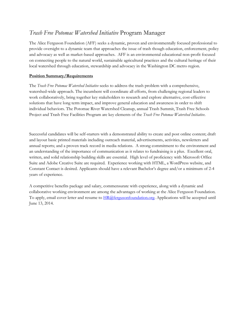 Job Announcement - Chesapeake Network