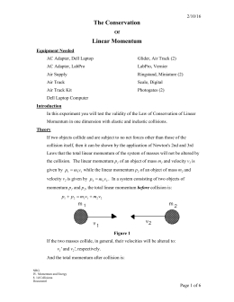 conservation of linear momentum pdf