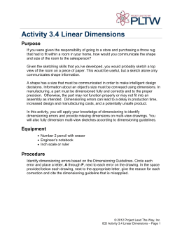 Activity 3.4 Linear Dimensions